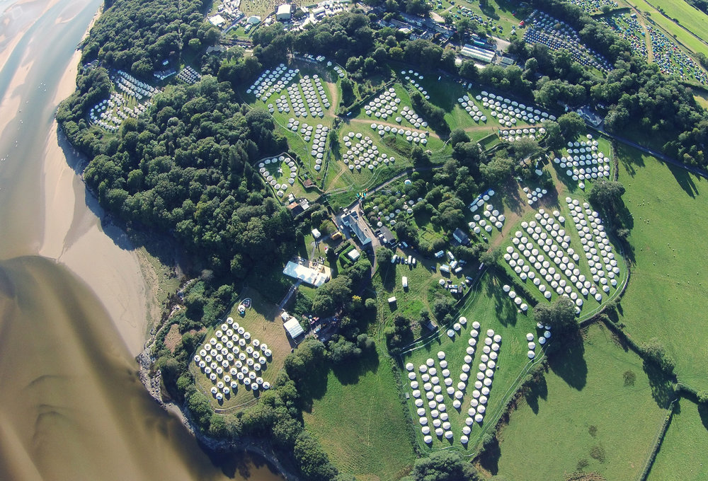 Festivals Accommodation Aerial View