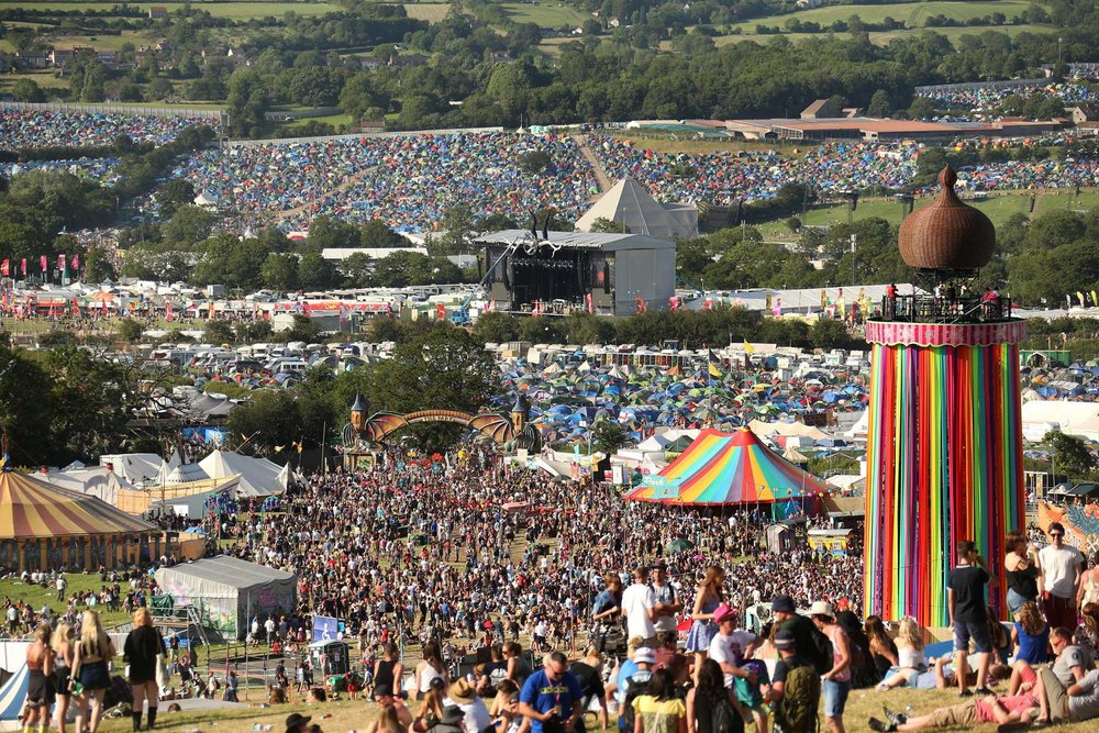 Glastonbury Festival Crowd