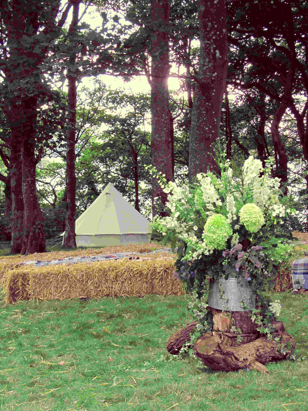 Hotel Bell Tent wedding flowers