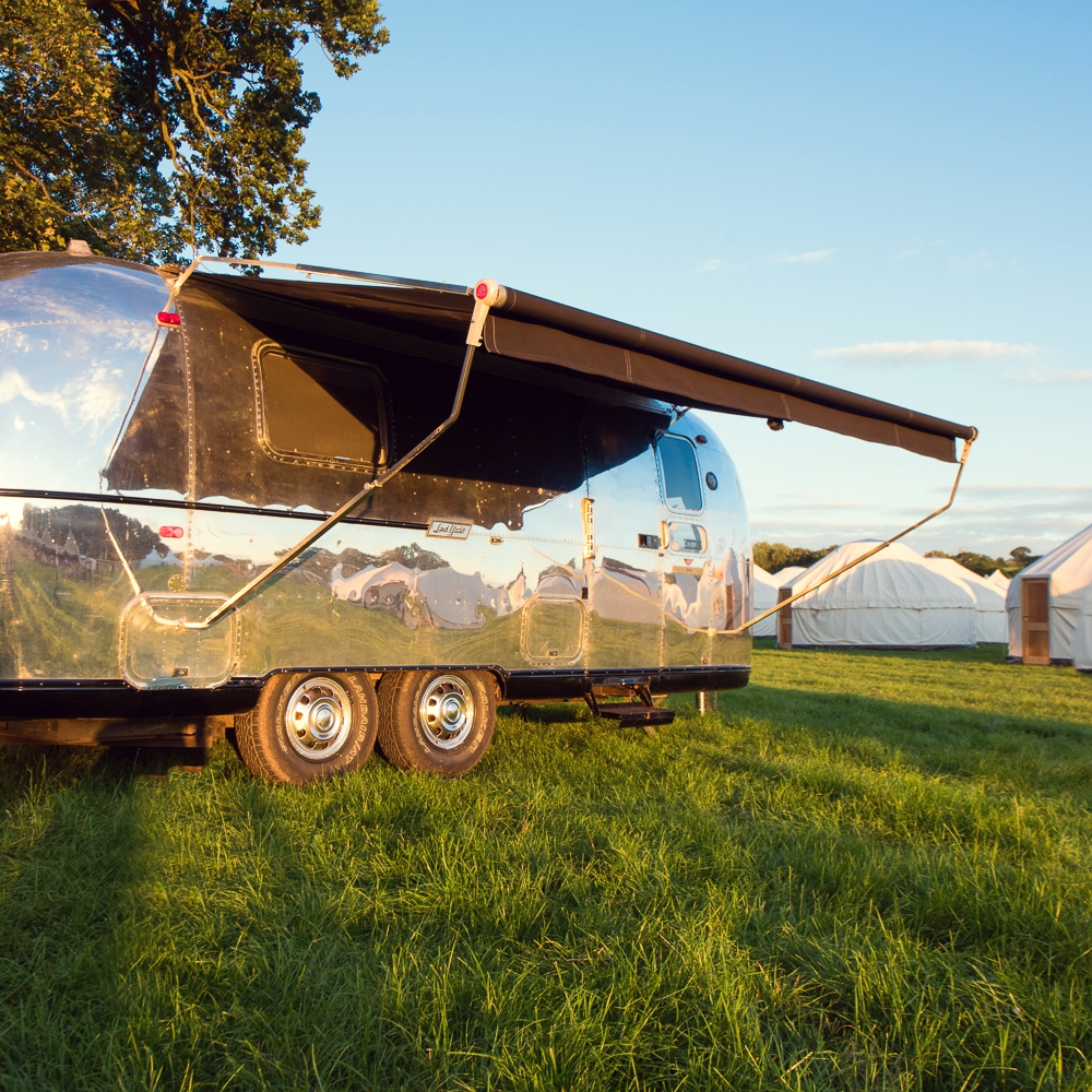 Hotel Bell Tent Accommodation Airstream Trailer