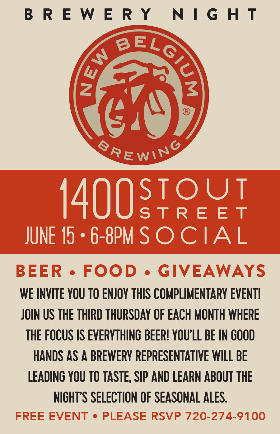 Stout Street Social Brewery Night with New Belgium Brewing