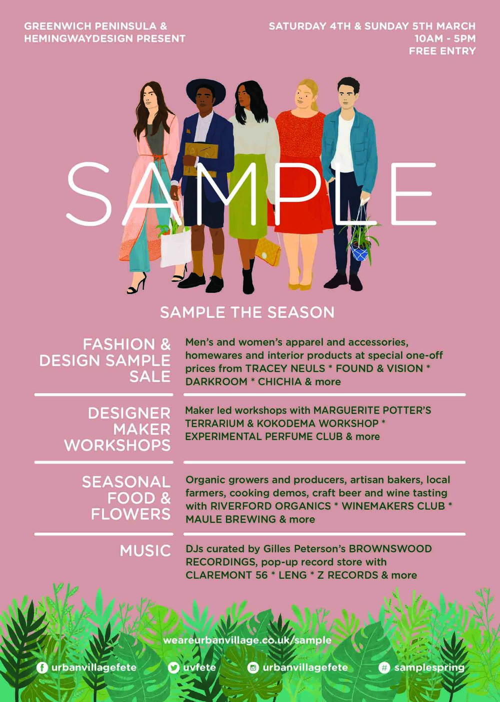 become a real hub of creative activity curated by hemingway design its called sample and is one of many exciting events being cooked up by that team