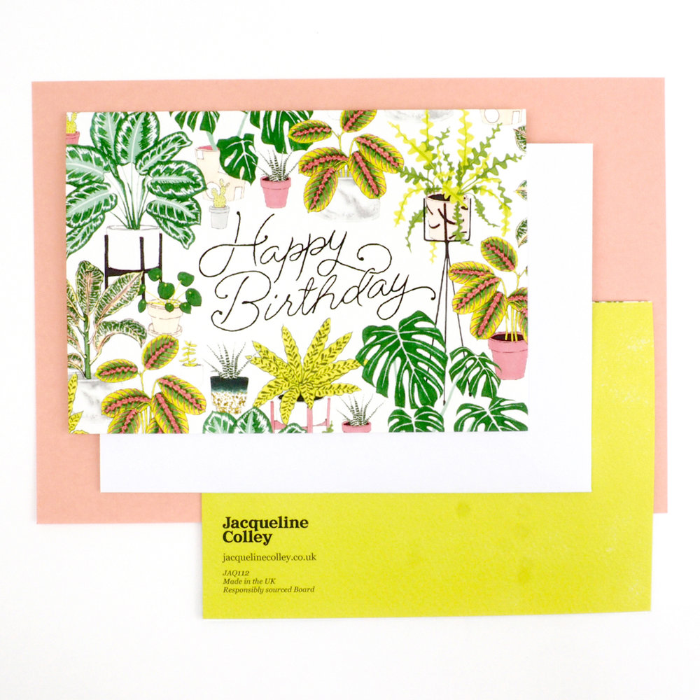 Plants Birthday Card Jacqueline Colley
