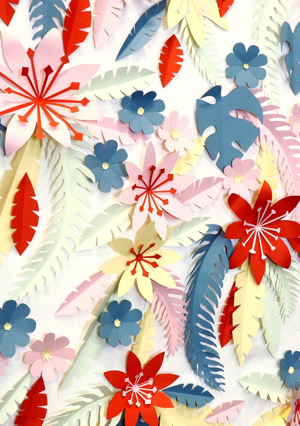 Paper Cut Tropical Flowers and Foliage by Jacqueline Colley