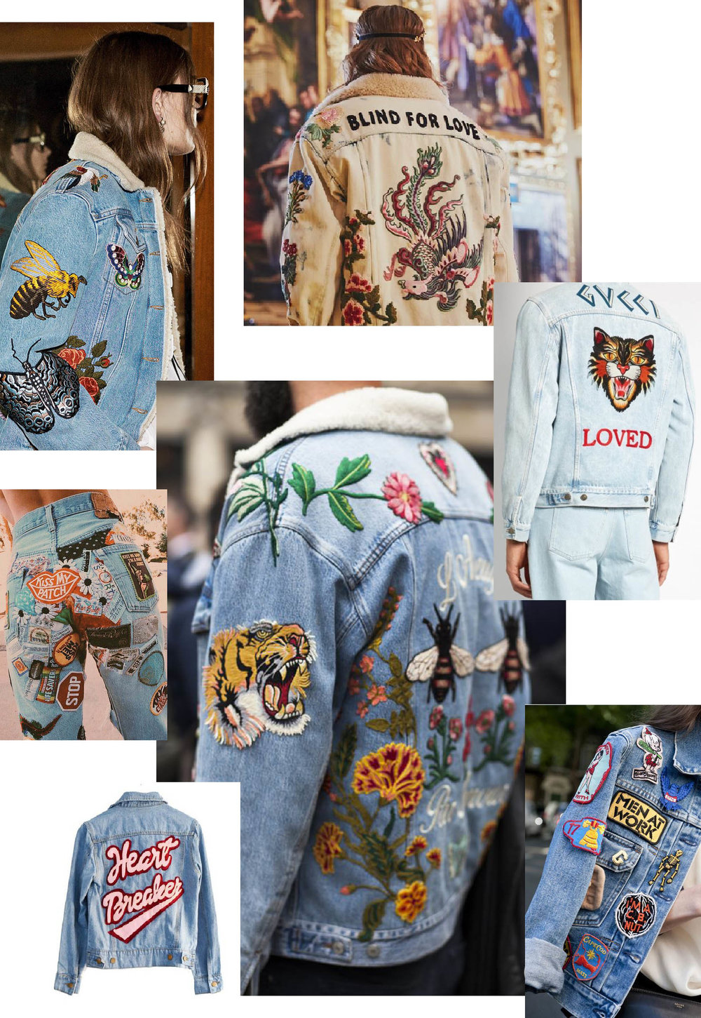 I have a pinterest board dedicated to denim jackets and patches!