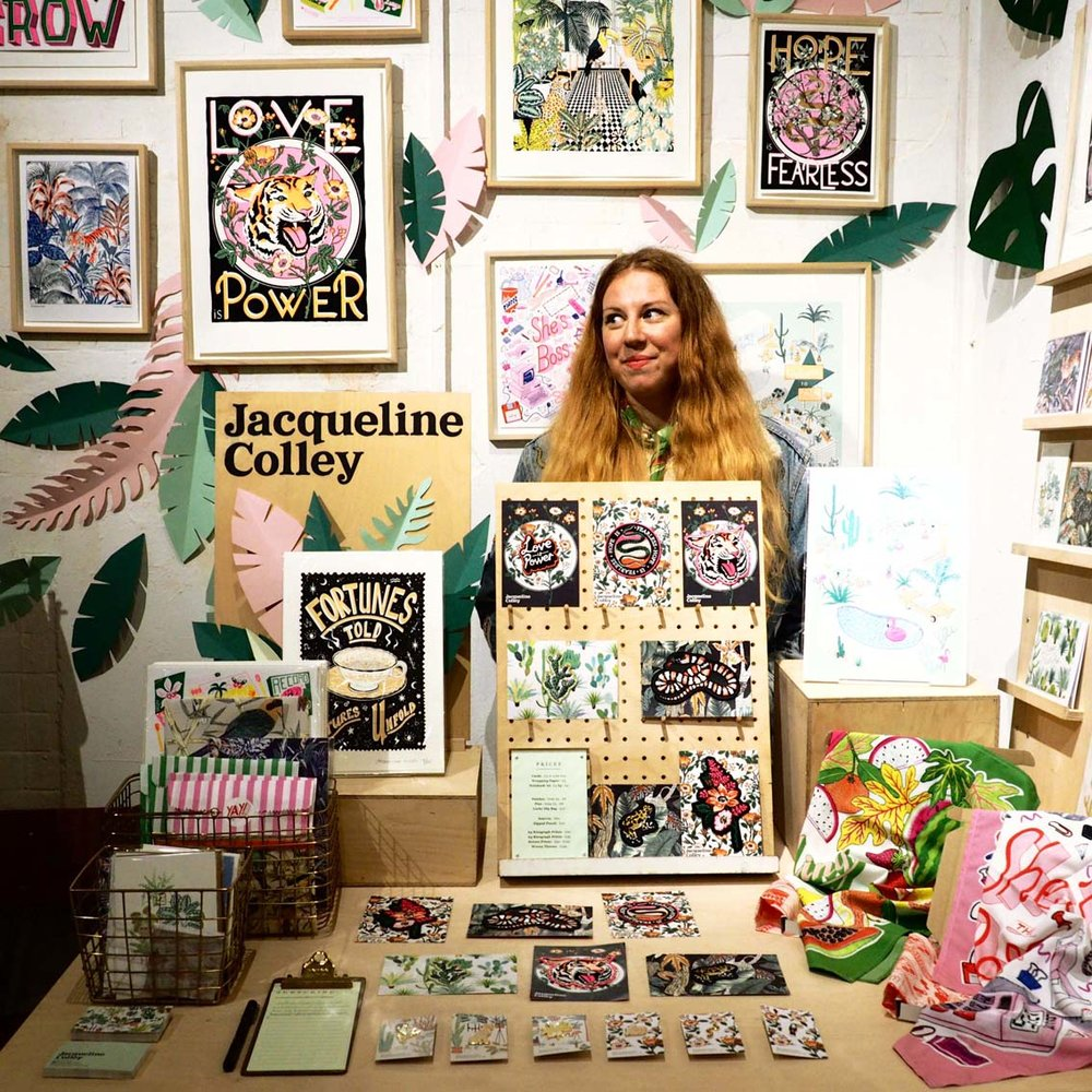 Markets have been an important way to exhibit my work here I am at The London Illustration Fair Dec 2018