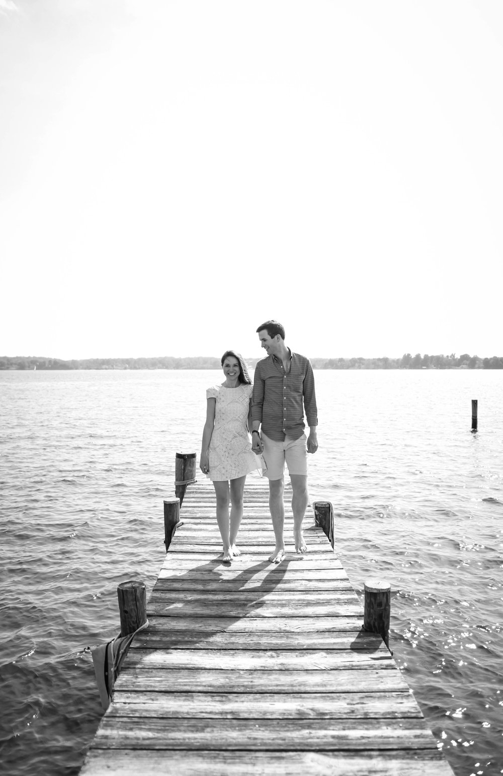 Maryland Engagement Photographer | Maral Noori Photography | Alix and Richard | Solomons Island | St Mary's County Wedding Photographer | Boardwalk | Patuxent River
