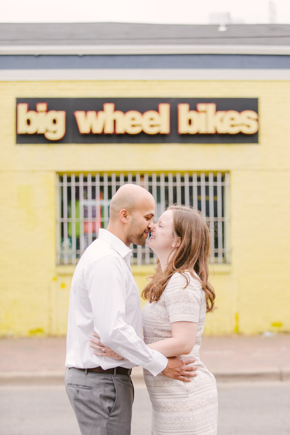 Maral Noori Photography | Kate and Anup | Old Town Alexandria | Jones Point Photography | Virginia Wedding Photographer | Alexandria Engagement Photographer | Big Wheel Bikes