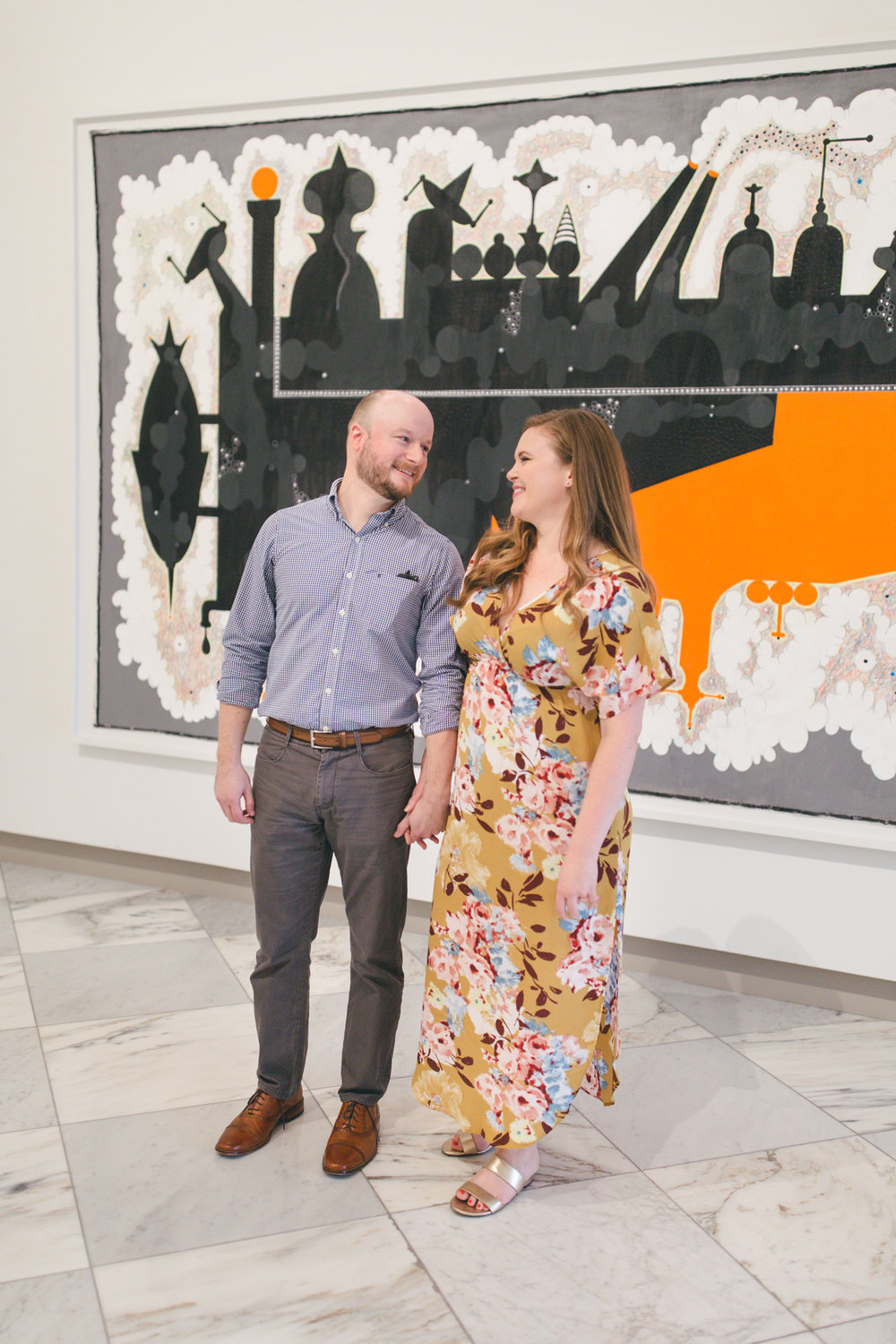 Smithsonian National Portrait Gallery Engagement Session | Maral Noori Photography | Washington DC