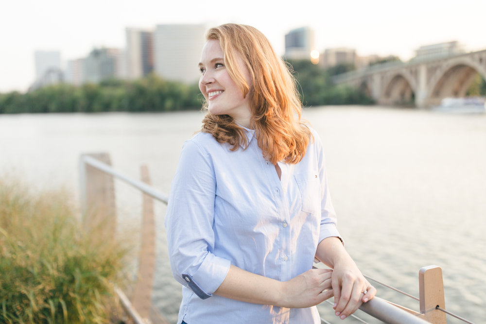 Georgetown Waterfront Engagement Session | Maral Noori Photography | Golden Hour | Rosslyn