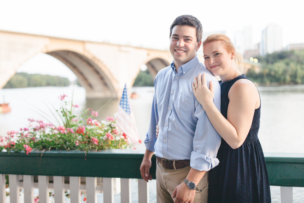 Georgetown Waterfront Engagement Session | Maral Noori Photography | Potomac Boat Club