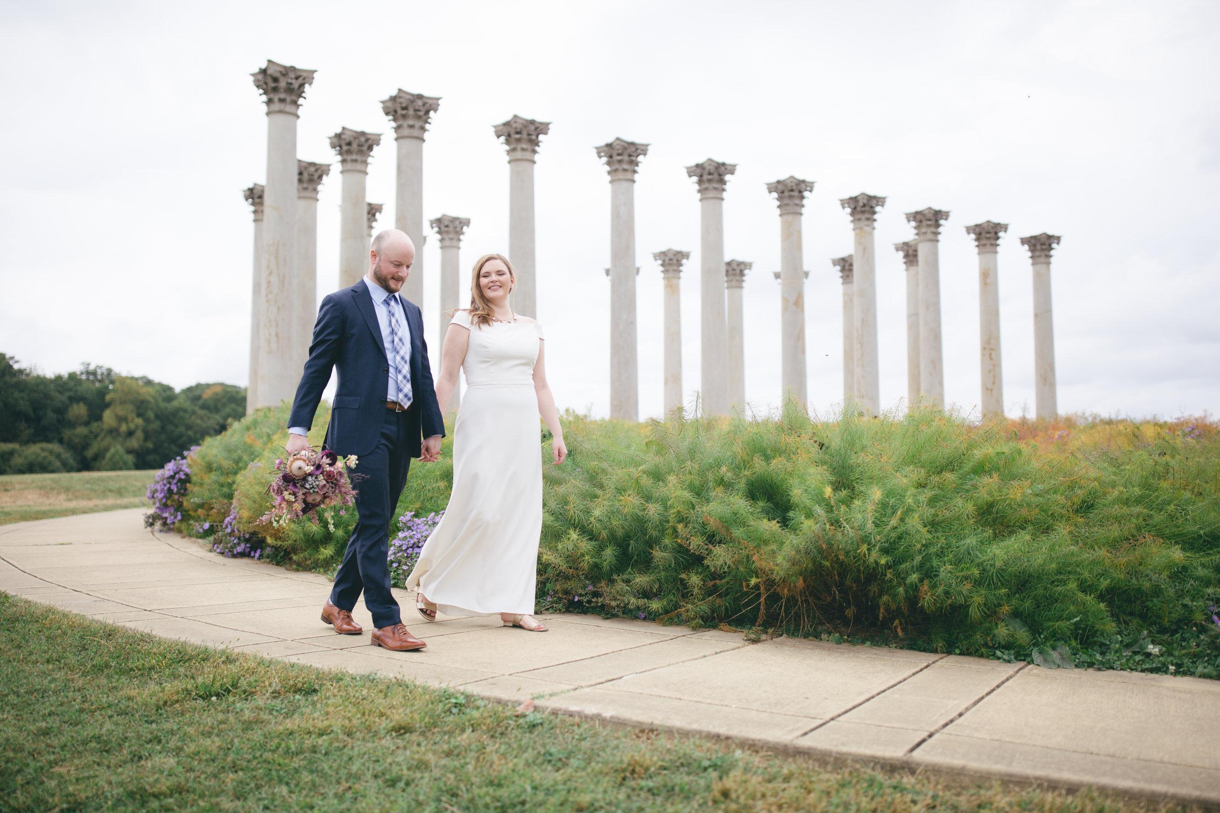 Sarah And Tom Fall Arboretum And Ivy City Wedding Washington