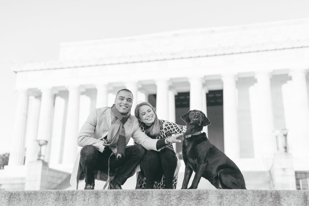 Lincoln Memorial Anniversary Portraits | Maral Noori Photography | Washington DC Engagement and Wedding Photographer