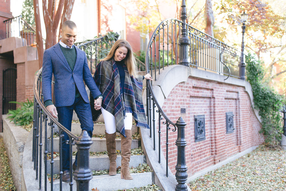 Fall Georgetown Anniversary Portraits | Maral Noori Photography | Washington DC Engagement and Wedding Photographer