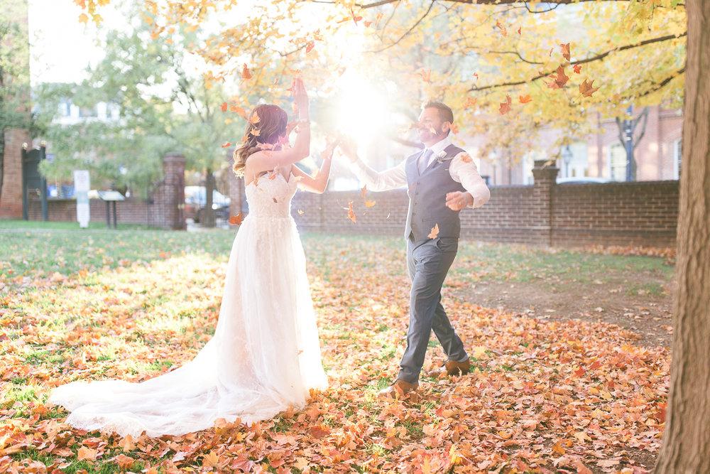 Carlyle House Elopement | Maral Noori Photography | Virginia Wedding Photographer | Fall Portraits