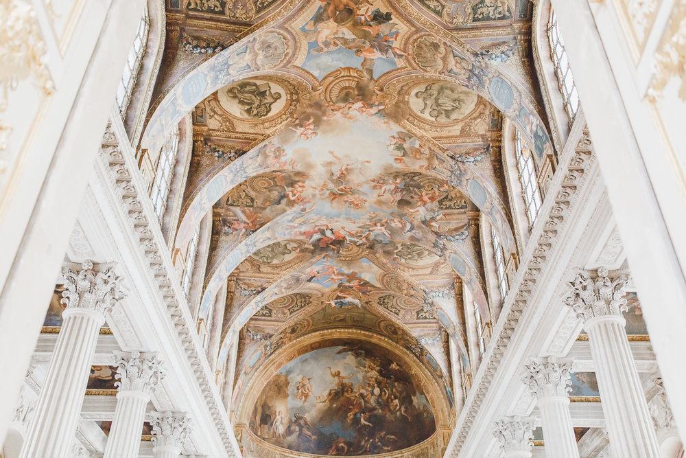 Maral Noori Photography | Versailles Palace, France | Travel Tips and Blog | Cathedral Ceiling
