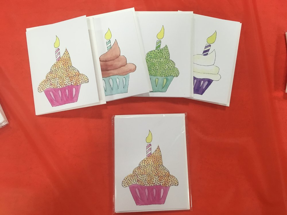 Show the Cupcake card set of four now.