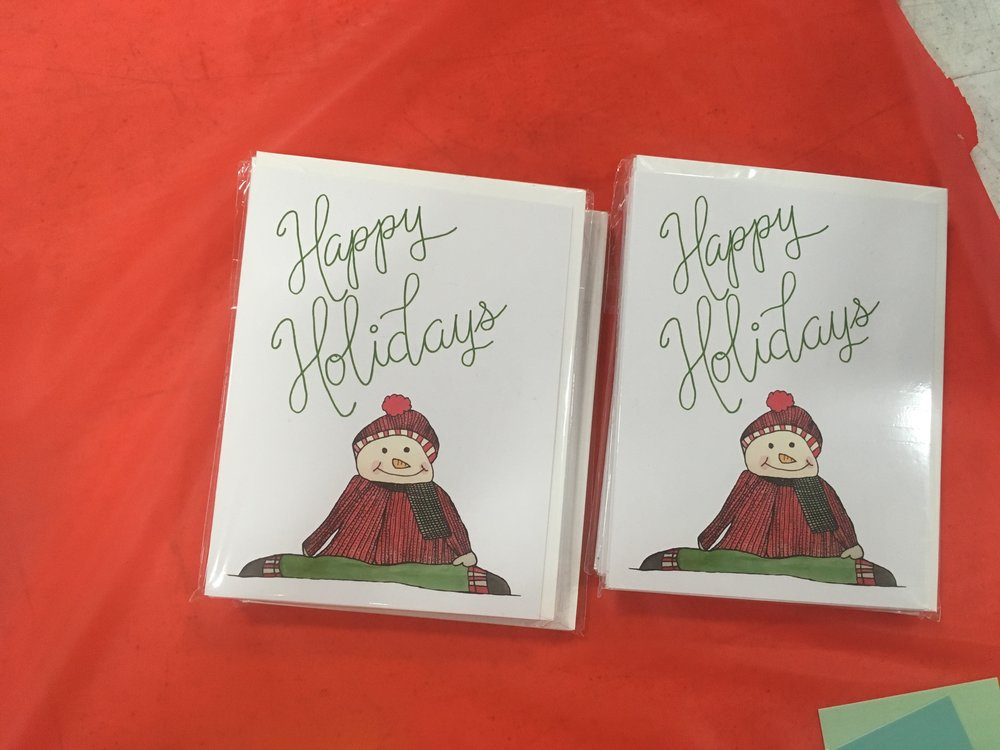 Shop the Happy Holiday card set of ten now.