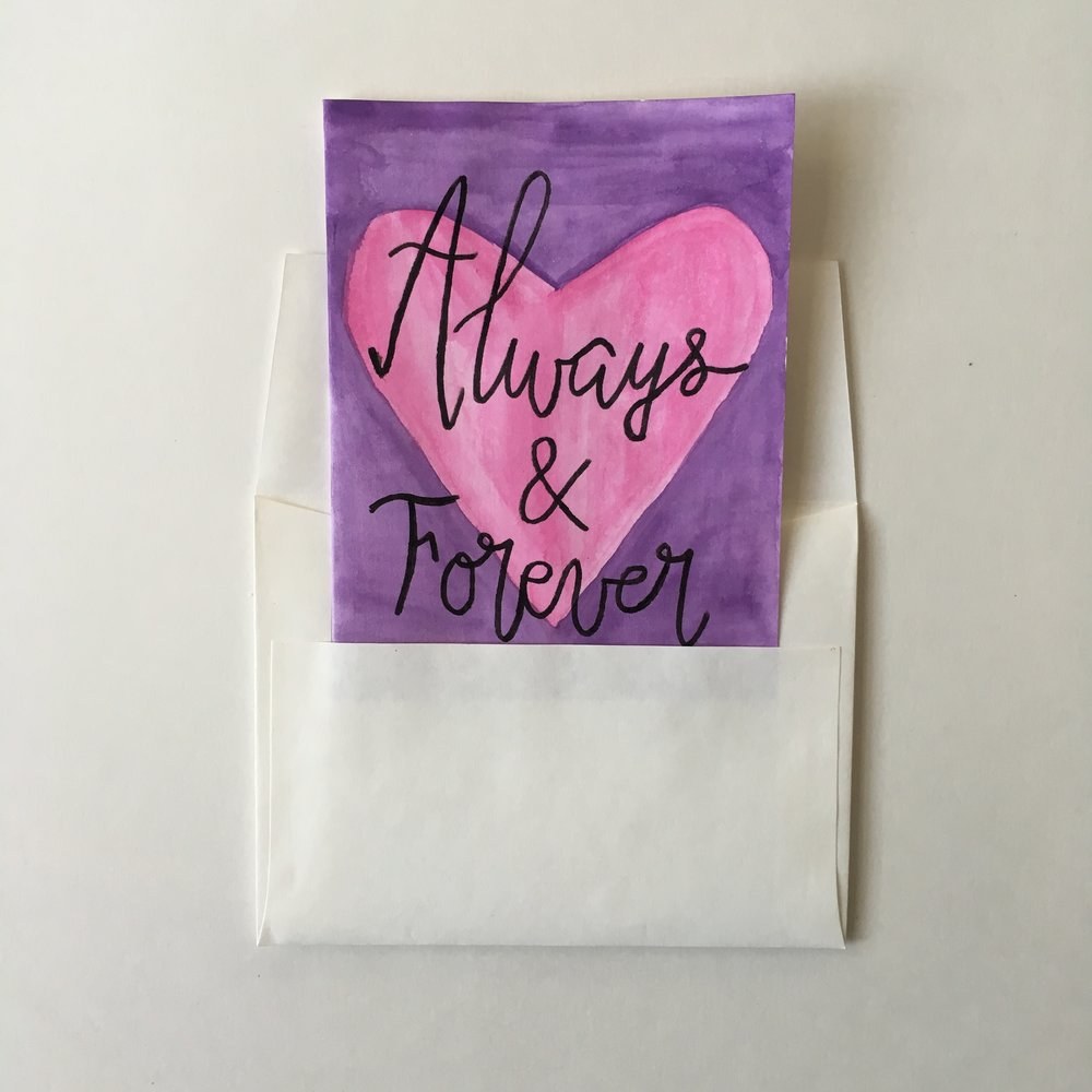 Always & Forever - Pink and Purple Watercolor