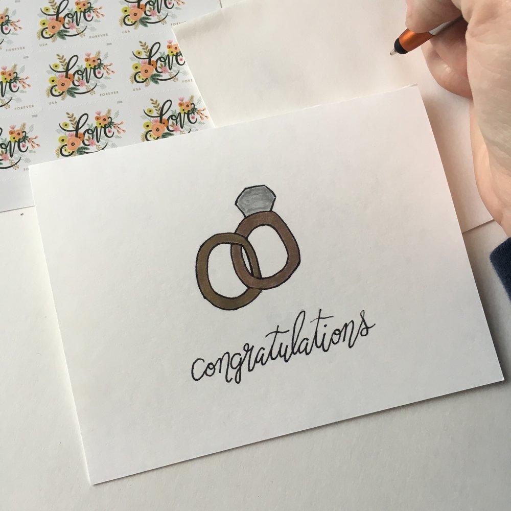 Congrats - Wedding Rings