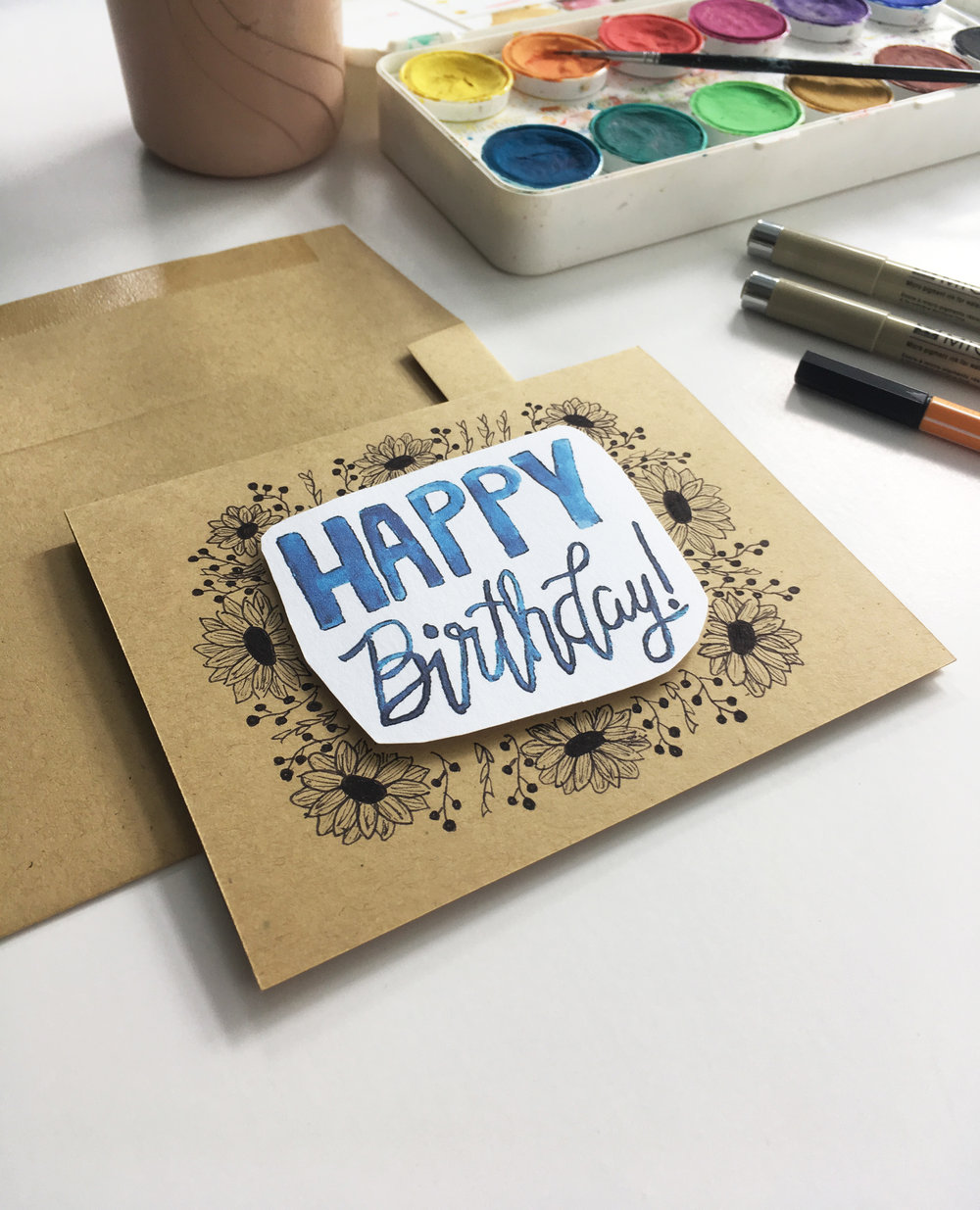Shop our handmade Floral Happy Birthday card  here .