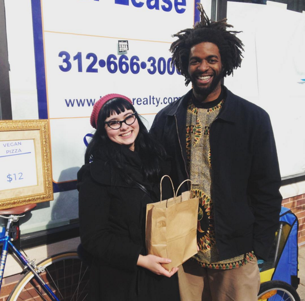 NeuBite street outreach This past weekend, I had the opportunity to be in the community talking with people about NeuBite and healthy living. Here I am pictured with a happy customer after purchasing a Vegan Pizza meal-kit. The smile tells it all!