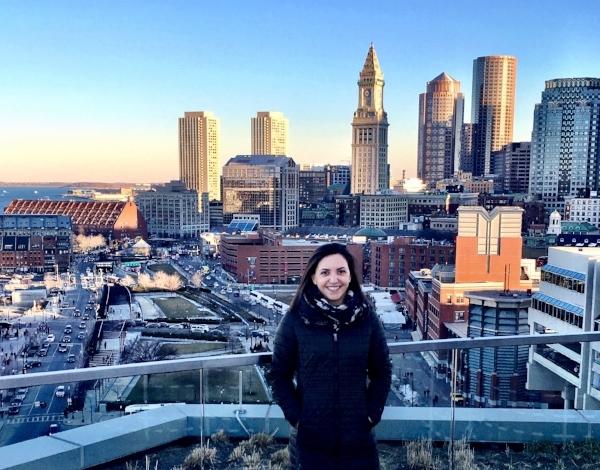 Christina Invernizzi overlooking downtown Boston