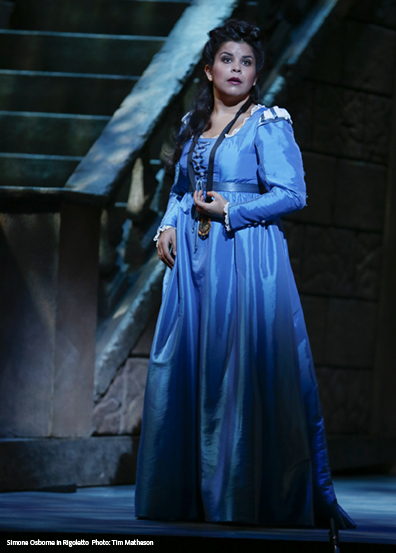 Simone Osborne in Vancouver Opera's production of Rigoletto Photo: Tim Matheson