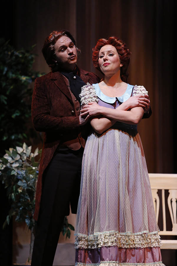 Lensky and Olga in the Biernacki-directed UBC Opera production of Eugene Onegin. Photo: Tim Matheson