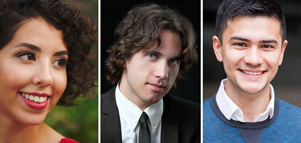 Pictured (left to right): Marie Civitarese, Benjamin Hopkins, and Aidan Mulldoon Wong