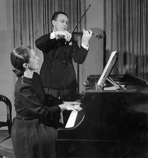 Harry Adaskin and Frances Marr Photo credit: UBC Archives, Photo by Page Toles