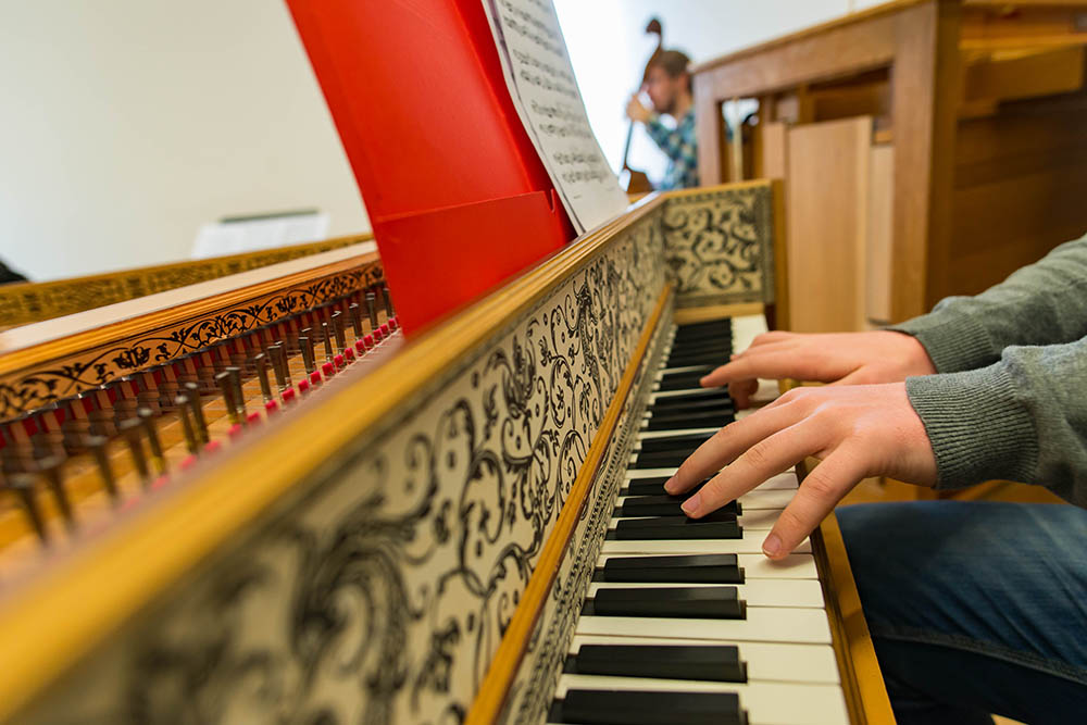 Harpsichord.  Photo: Paul Joseph/UBC
