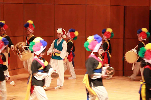 Korean Drumming Ensemble.