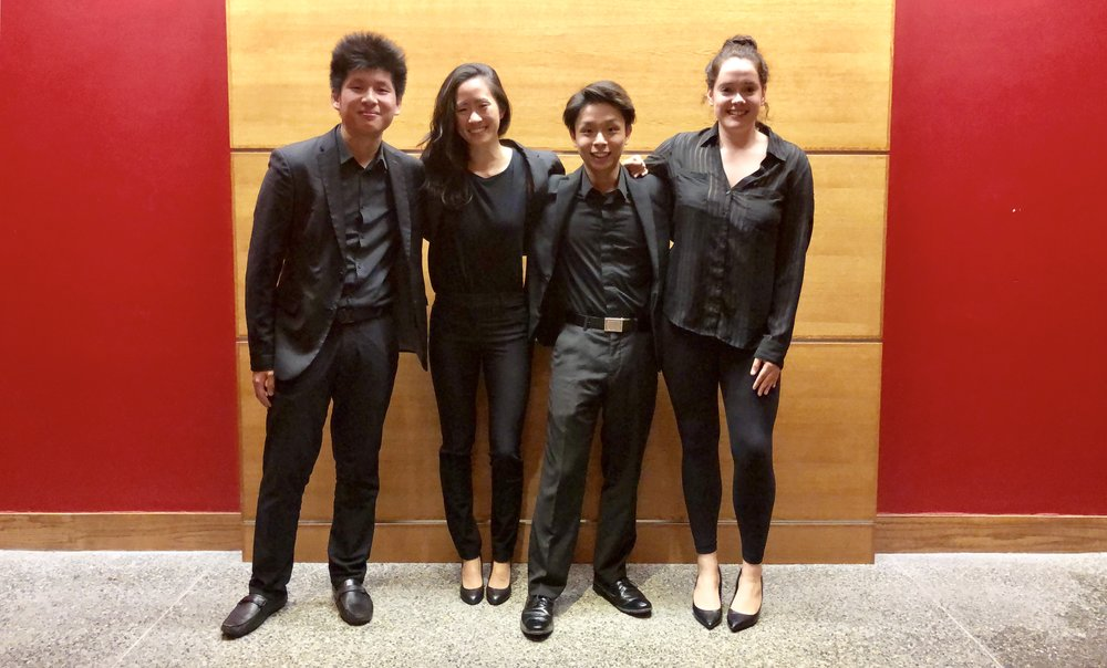 L to R: Daniel Tsui, Melody Chen, Denny Ho, Kimberley Kistler