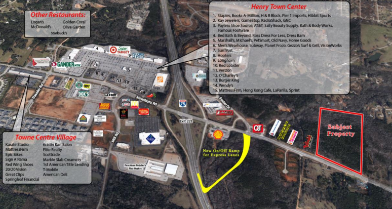 Retail & Residential Land For Sale, Jonesboro Rd., Henry County, McDonough GA