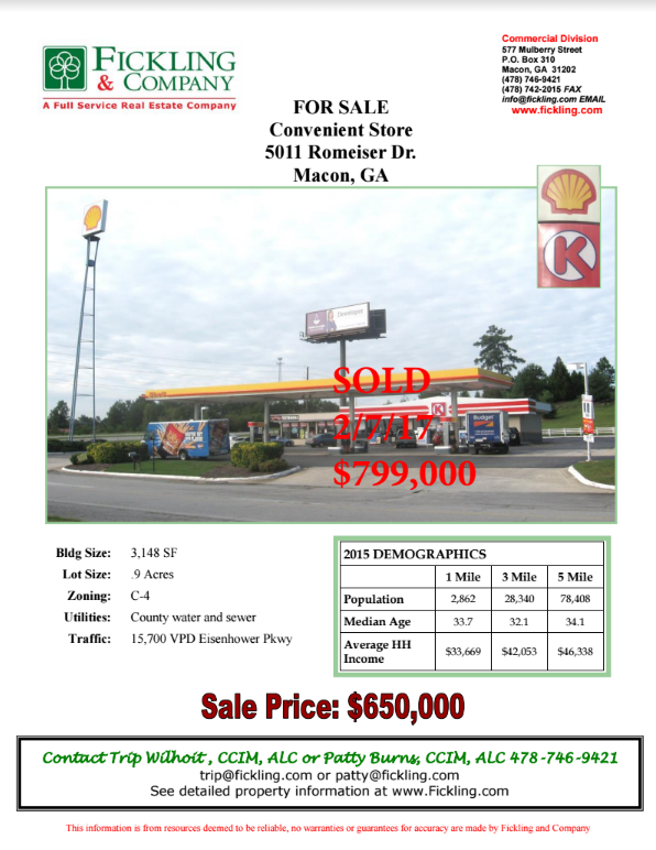 SOLD by Trip Wilhoit & Patty Burns, Fickling & Co.