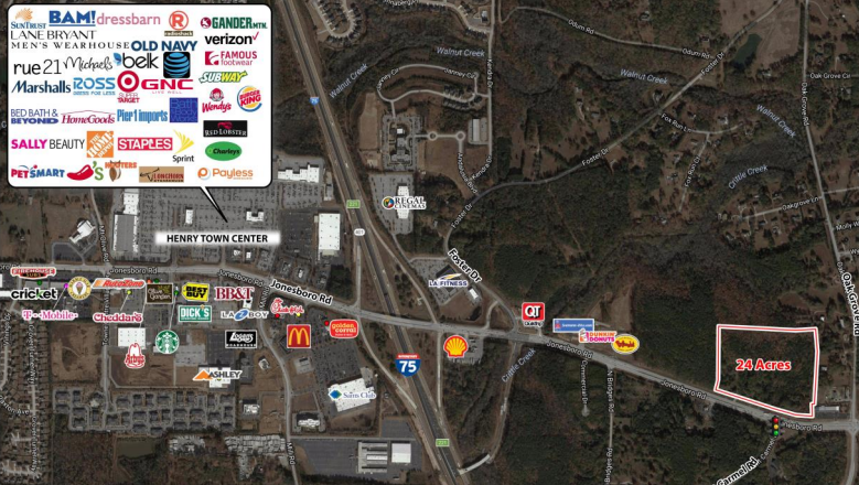 24+/- acres for sale in McDonough, GA by Trip Wilhoit & Patty Burns, Fickling & Co.