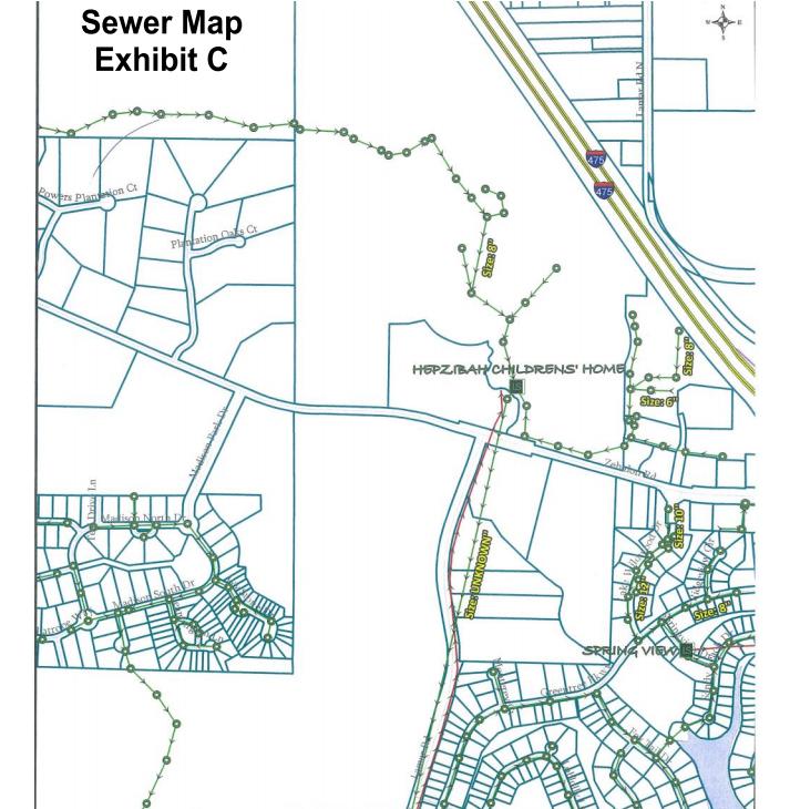 6601_Zebulon_Rd_Macon_Sewer_Map_Exhibit_C | GeorgiaCommercialRealEstate.net
