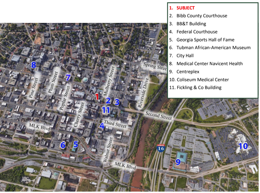 Arial View of Downtown Macon | GeorgiaCommercialRealEstate.net