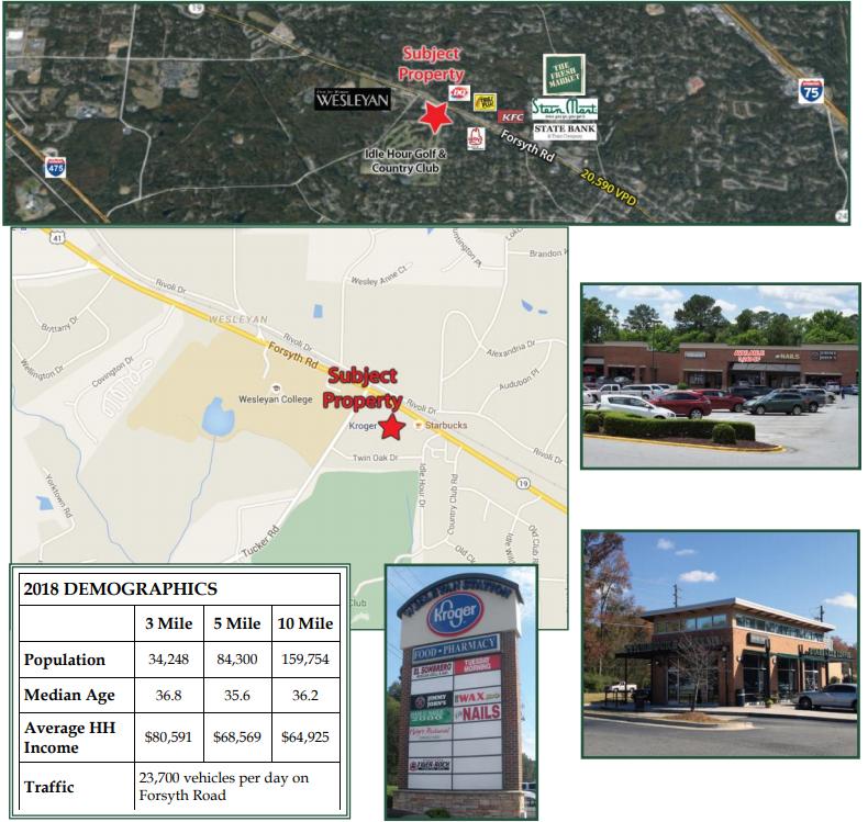 Kroger Shopping Center space for lease Wesleyan Station