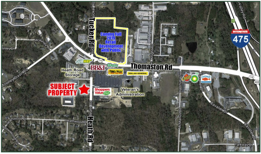 1.64 Acre Lot For Sale Macon | GeorgiaCommercialRealEstate.net