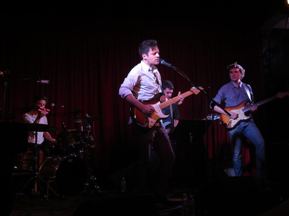 Onstage with Alexander Morgan at Hotel Café