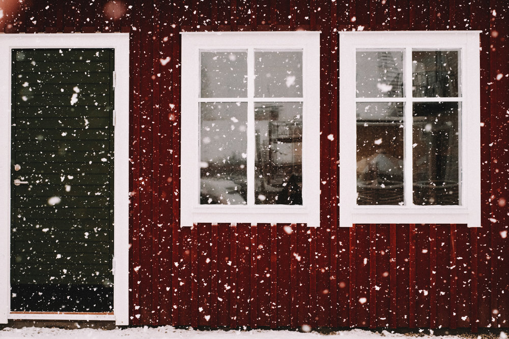 snöhus - Akvarell 60 x 40 cm, 430 krKÖP