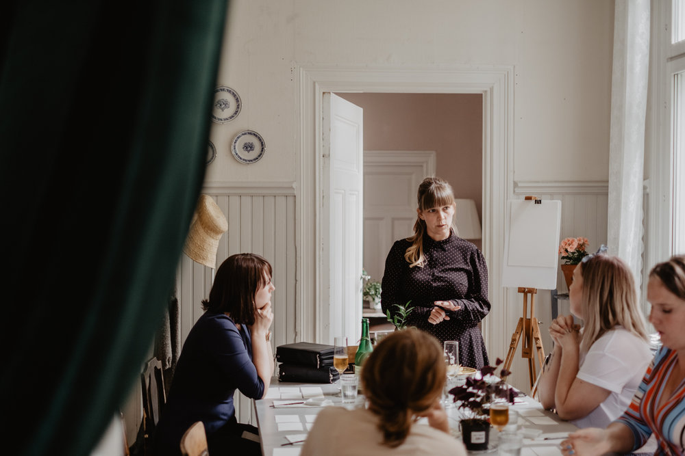 Dagen avslutades med en workshop som  Frida  höll i.