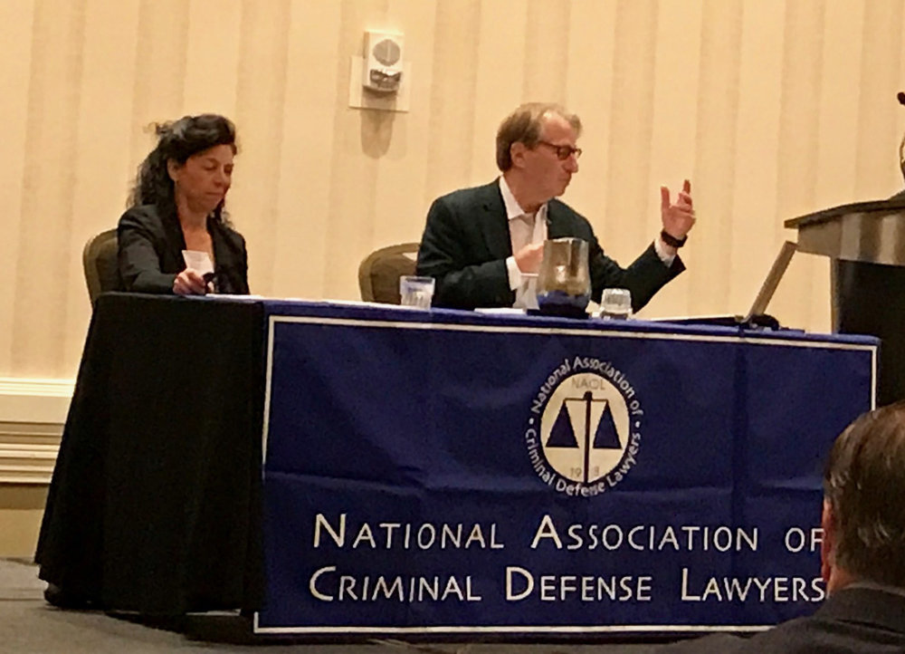 Jennifer Friedman and Barry Scheck (co-founder of the Innocence Project) opening the 2017 Innocence Network Conference with NACDL training for post-conviction attorneys on the reliability of forensic evidence in innocence claims