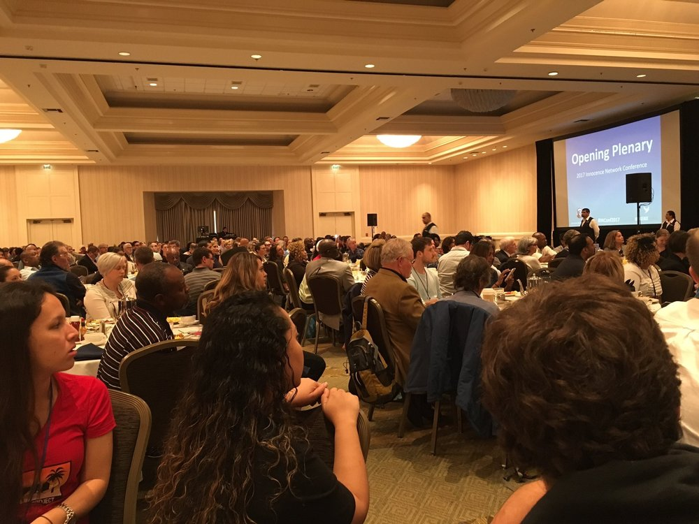 More than 750 participants gathered in San Diego at this year's Innocence Network Conference. There were staff from 59 different Innocence organizations from around the world, and 190 exonerees who spent at total of 2,953 years wrongfully imprisoned (222 years were on death row)