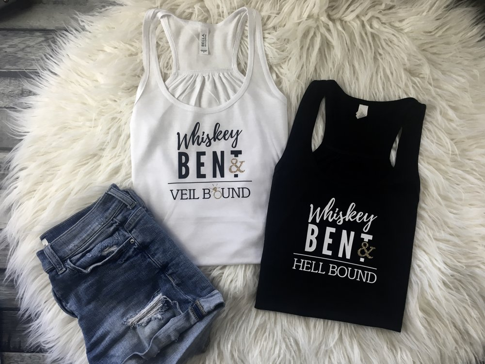 e53effaea Whiskey Bent And Veil Bound, Whiskey Bent And Hell Bound - Bachelorette  Shirts — Me and Baby Designs