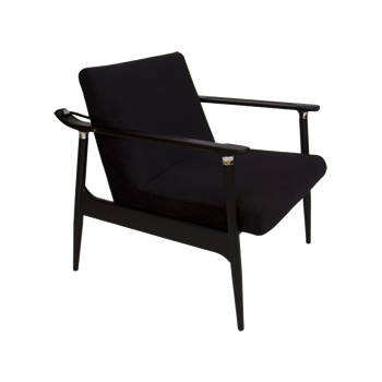 emprio beraldin anelo wood frame armchair