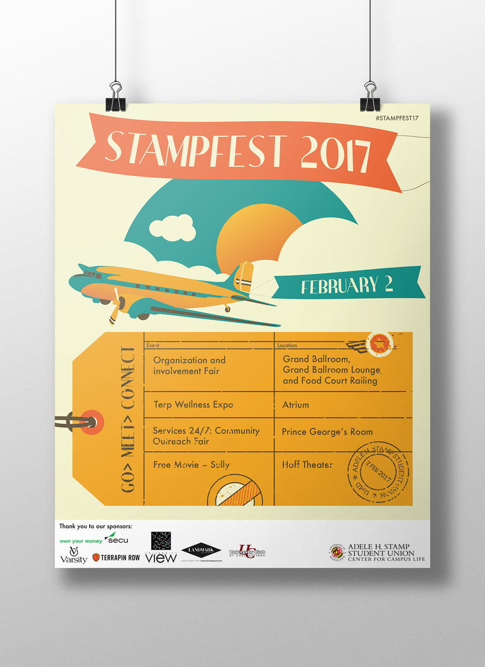Made Vintage Travel Inspired Posters Pins T Shirts Social Media Images Web And TV To Be Displayed Throughout Stamp Promote StampFest