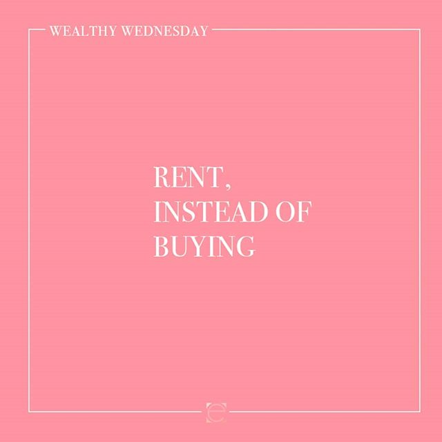 Wedding Season is here and for the next few weeks I will be talking about tips for the Bride and Groom! Tag whoever needs to hear these 💕  This weeks tip: Rent, instead of Buying  Watch the replay as we talk about the tip of the week at    bit.ly/wealthywednesdays